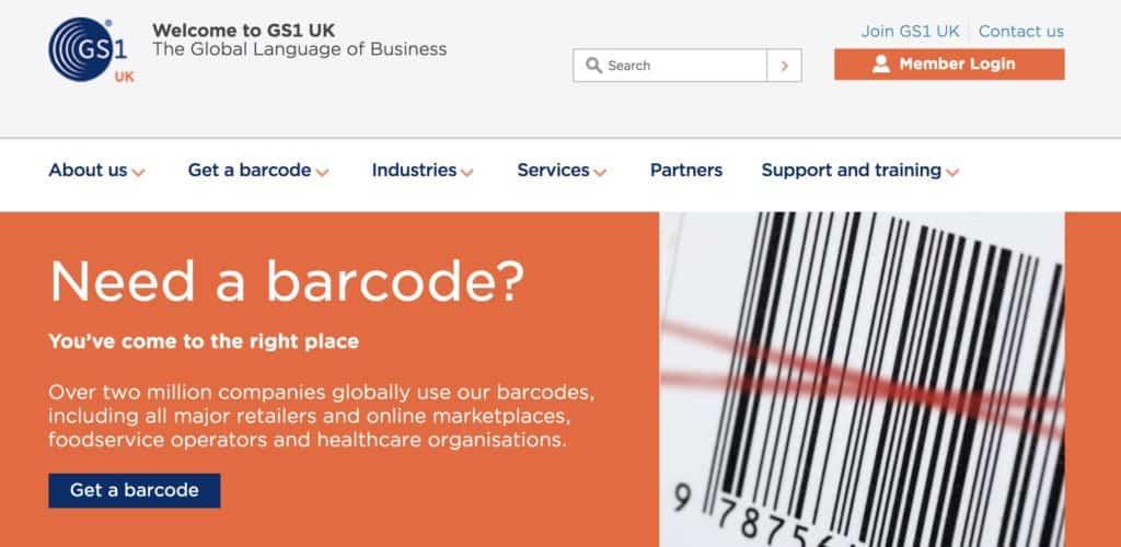 GS1 Barcode Amazon FBA
