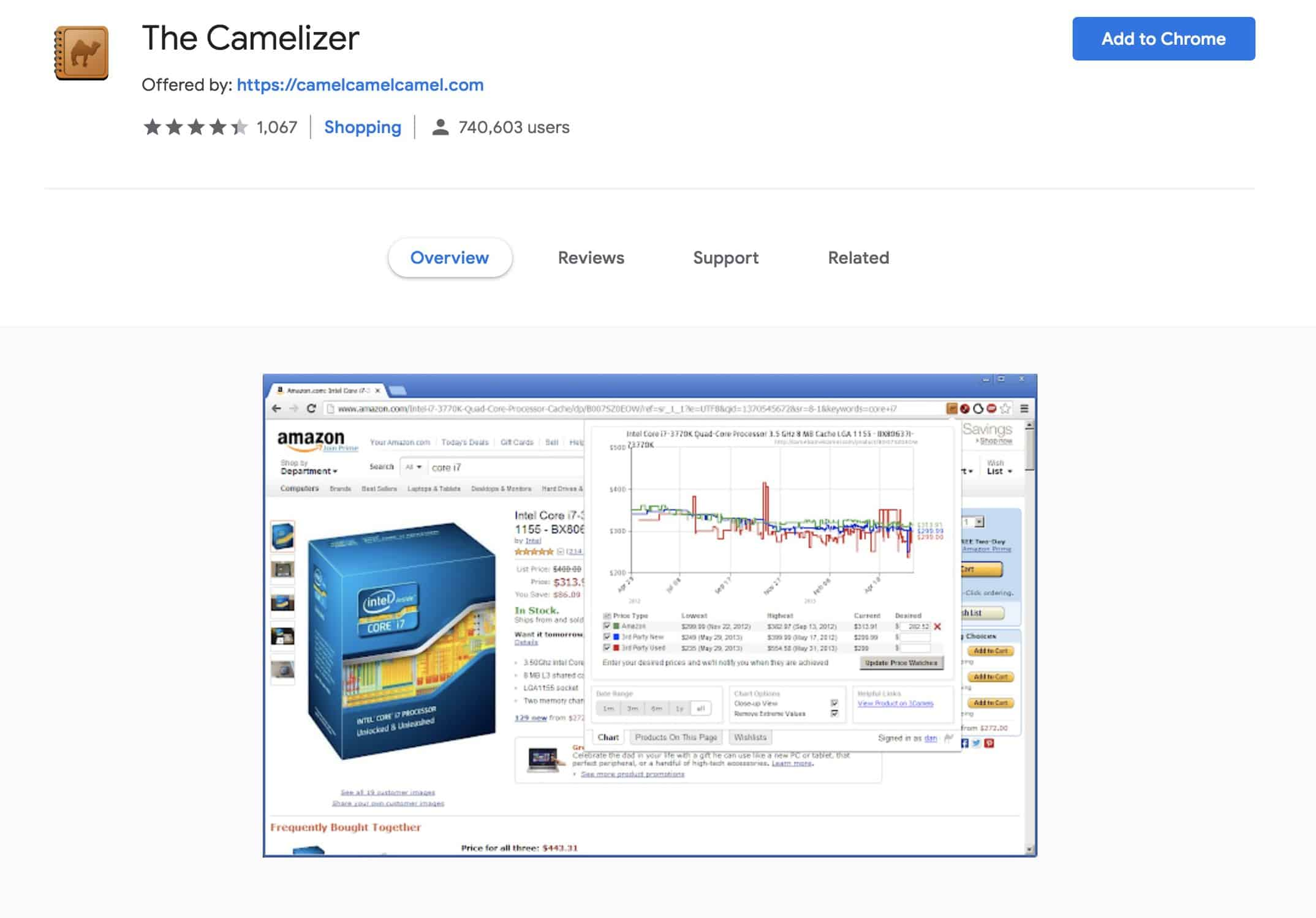 The Camelizer Chrome App Amazon