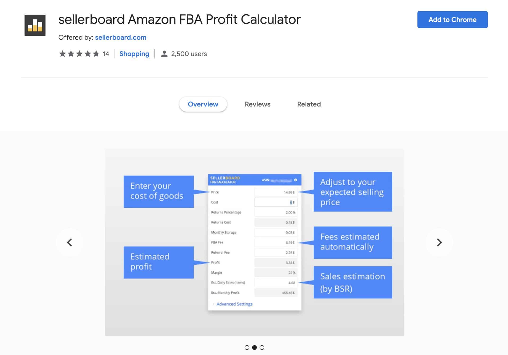 SellerBoard-Chrome-Extension