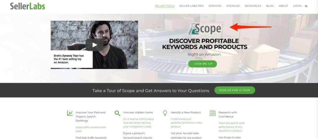 scope seller labs chrome extension