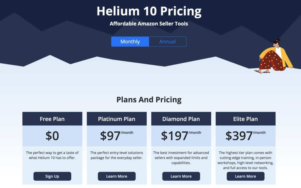 Pricing Helium 10
