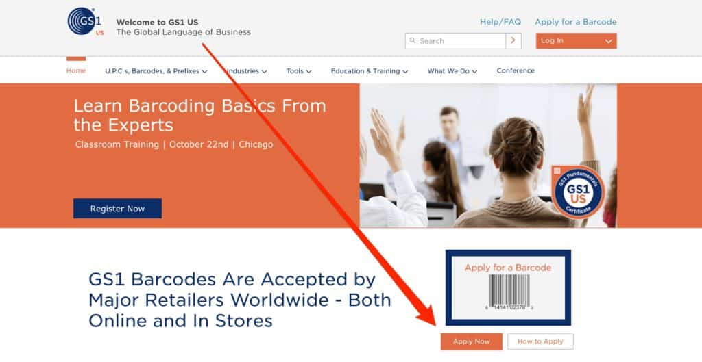 Official Amazon FBA Barcodes GS1
