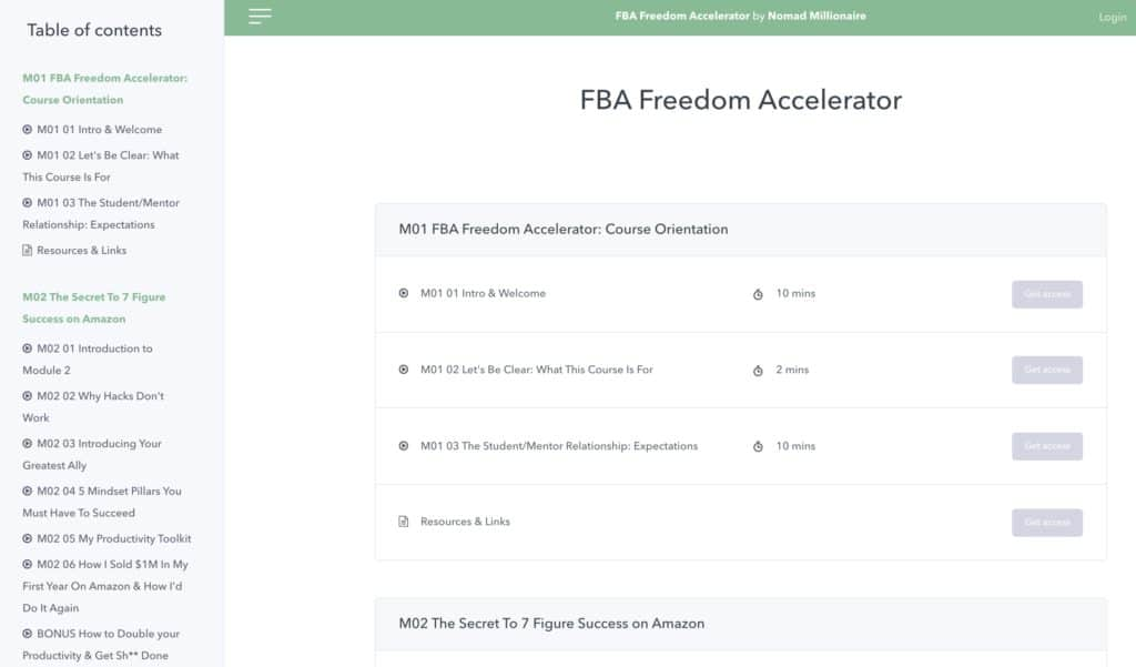 FBA Freedom Accelerator Course Myles