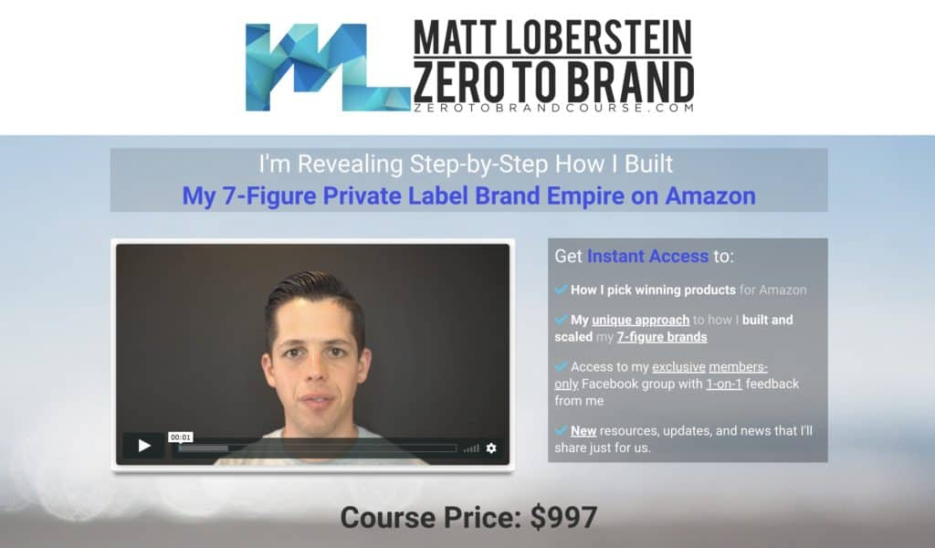 Zero to Brand Course Matt