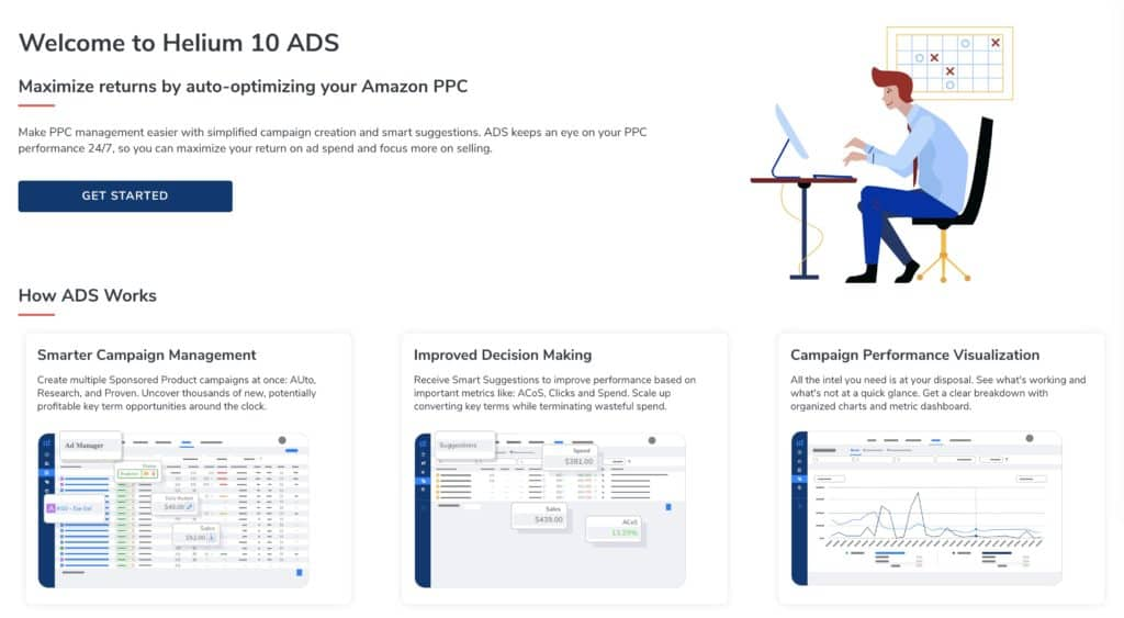 Helium 10 Ads beta dashboard