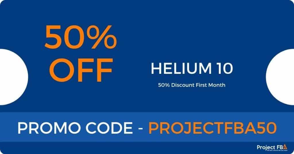 Helium 10 Discount Code 50% off